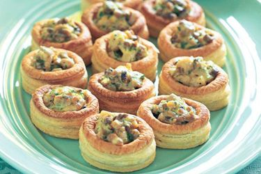Creamy chicken and mushroom vol au vents recipe, NZ Woman's Weekly – visit Food Hub for New Zealand recipes using local ingredients – foodhub.co.nz