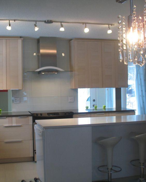 Accessories Furniture Charming Small Sapce Ikea Kitchen Design Help With Stylish Bright Wood Kitchen