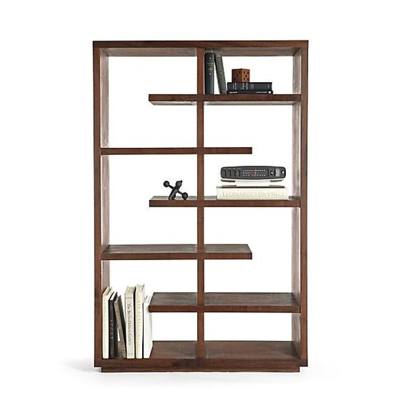 "Elevate Walnut 68"" Bookcase in Bookcases, Towers 