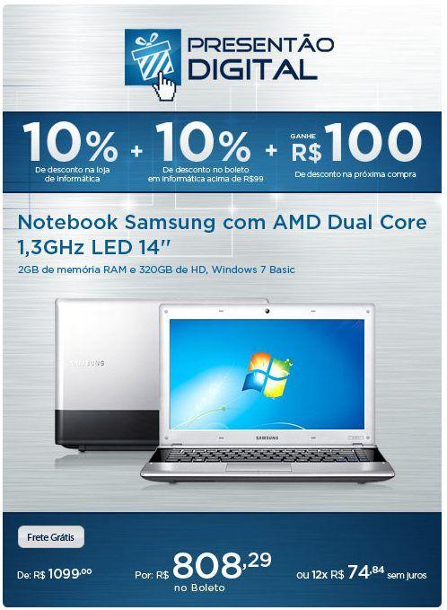 Aproveite o desconto de 10% em toda a loja de Informática + 10% no Boleto e ainda ganhe R$100 para a próxima compra!