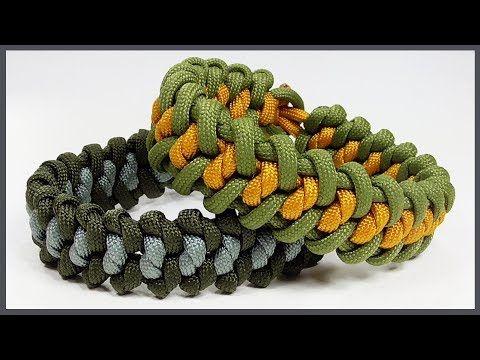 Paracord Bracelet Snake Groove Bracelet Design Without Buckle