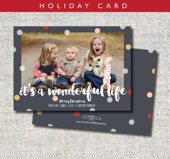 It's a Wonderful Life Holiday Card : C.Jane Design