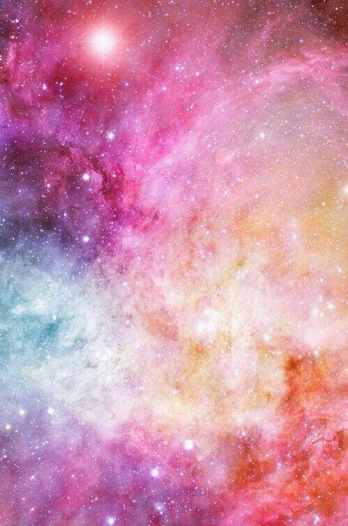 Coloured night sky
