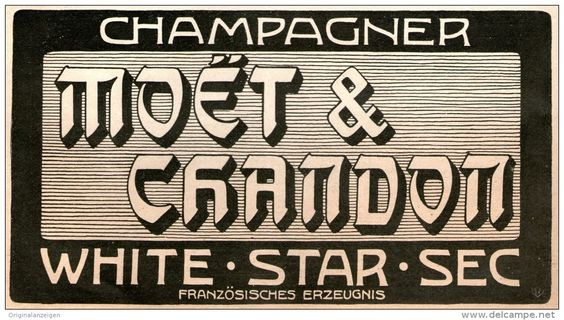 Original-Werbung / Anzeige 1905 - Moët & Chandon CHAMPAGNER  ca. 180 x 90 mm