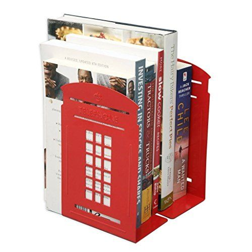 FOME One Pair Vintage Fashion British Style London Telephone Booth Kiosk Thickening Iron Library School Office Home Study Metal Bookends Book End+FOME GIFT FOME http://www.amazon.com/dp/B013Y02AIM/ref=cm_sw_r_pi_dp_MpBAwb125CW7E