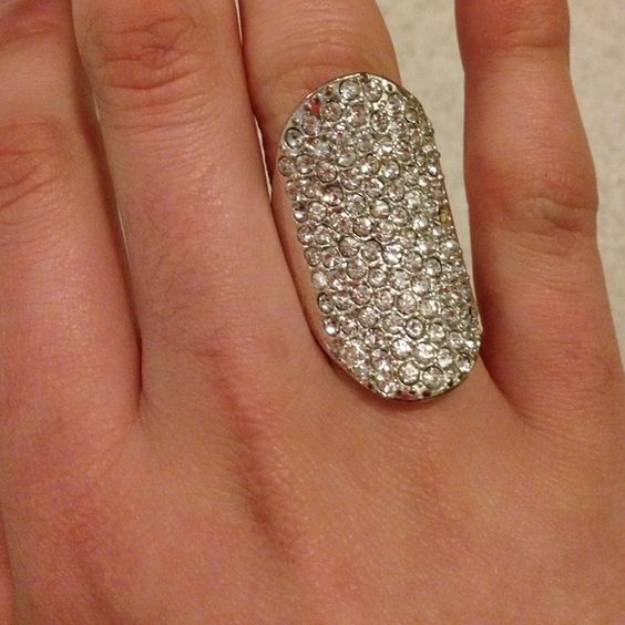 NWOT never worn ring Rhinestone thick outer thin inner ring H&M Jewelry Rings