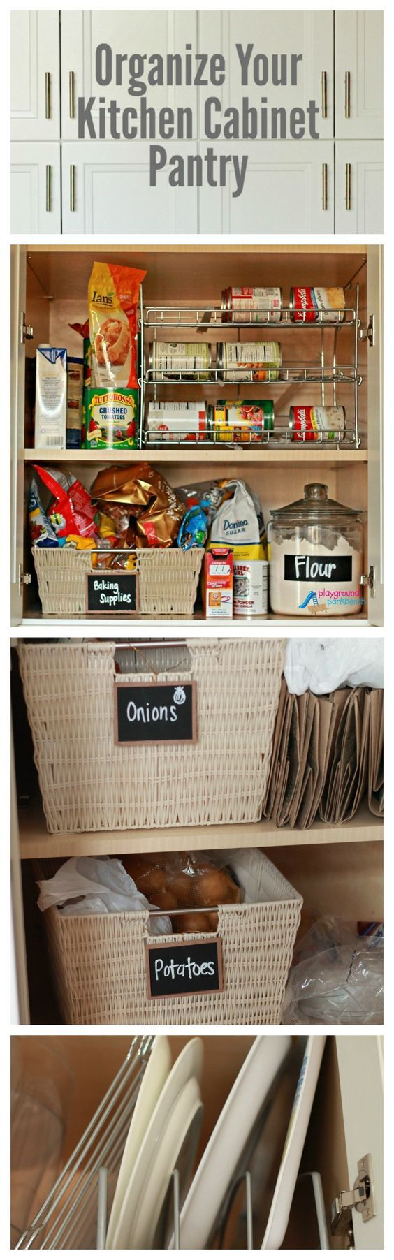 Organize Your Kitchen Cabinet Pantry - Tips and Tricks to Reduce Waste, Maximize Storage and Make it Look Pretty