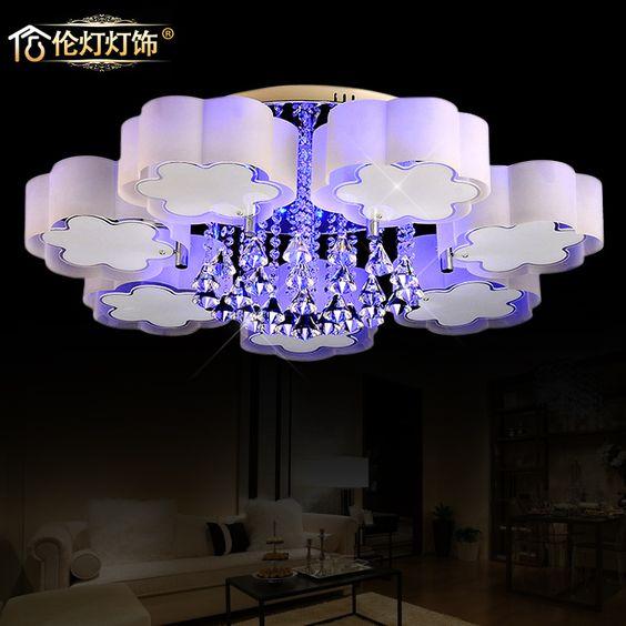 Modern moda teto de design quarto aconchegante sala de estar decoração iluminação lâmpadas de cristal em Pias de cozinha de Casa & jardim no AliExpress.com | Alibaba Group