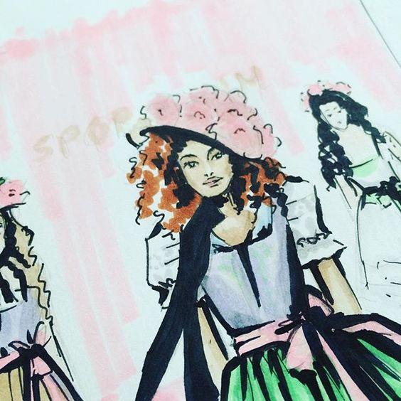 #sportalm #mbfwberlin #feschonline #fashionillustration #copicsketch #nadinebatista #dirndl #bayern #munich #Bavaria #tracht #trachten