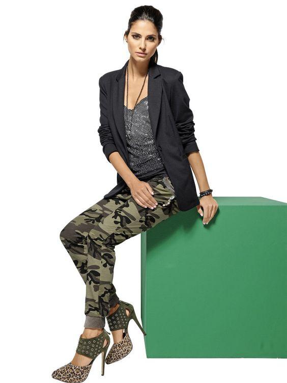 Tendance camouflage aventuri re le pantalon imprim camouflage voir notre - Helline fr tendances ...