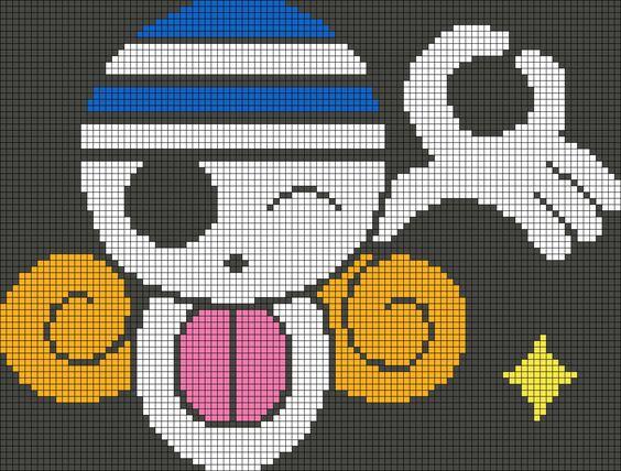 Nami's Jolly Roger  - One Piece perler bead pattern