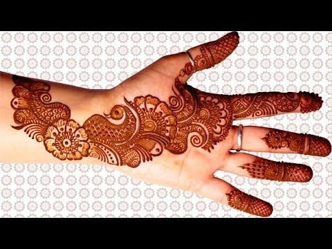 Royal Front Hand Mehndi Design For Kids