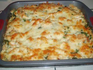 Chicken Spinach Tortilla Bake