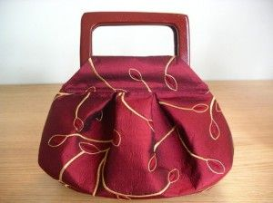 pleated purse