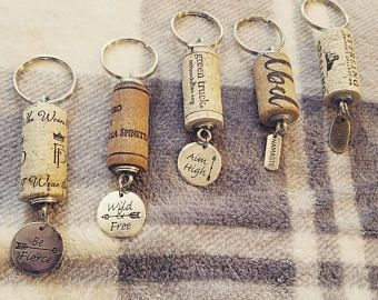 Wine Cork Keychains Wine Cork Decor Wine Gifts New Home Gifts New Car Gifts Birthday For Her Party Favor Gifts In 2020 Wine Cork Diy Crafts Wine Corks Decor Wine Cork Gifts