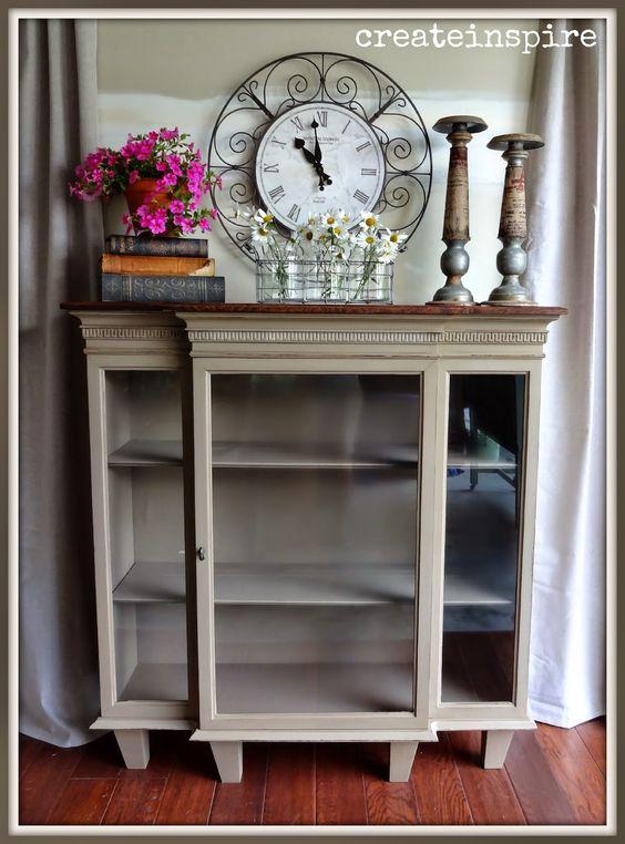 Repurposed Curio Cabinet Ideas | just b.CAUSE
