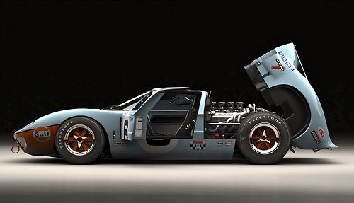 Gulf Ford GT40 the only way it should be done.