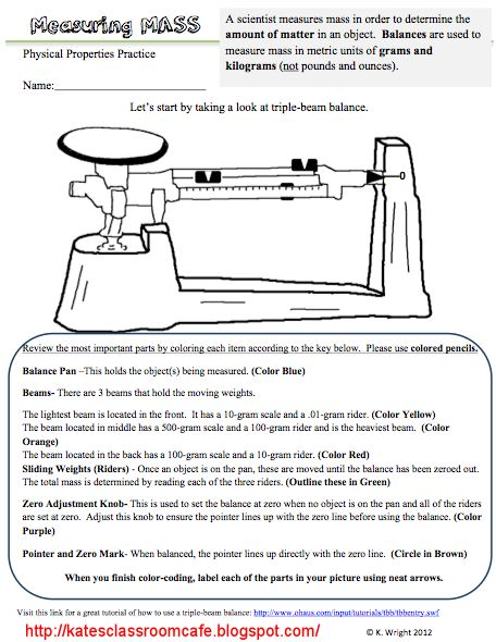 Printables Triple Beam Balance Worksheet triple beam balance worksheet problems science classroom cafe measuring mass worksheet