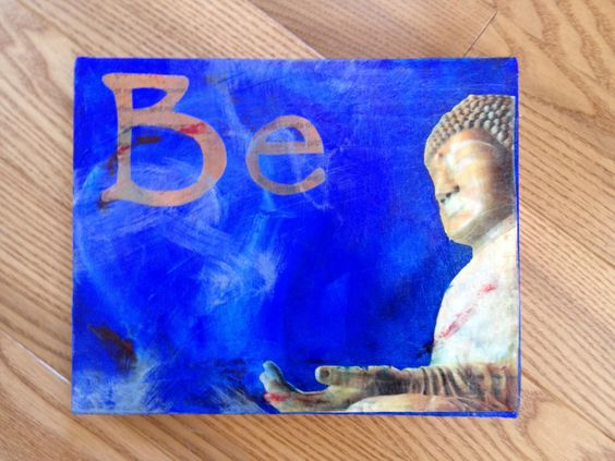 "exploring mixed media and acrylics ""Be"""