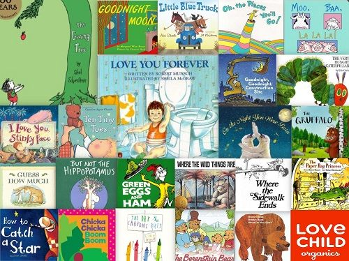 Love Child Organics followers' 25 Favourite Children's Books. What a great list!