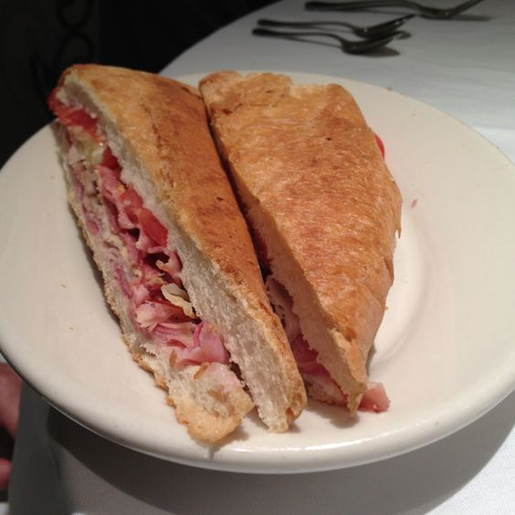 Traditional pressed Cuban Sandwich from The Columbia Restaurant...add it to your bucket list!