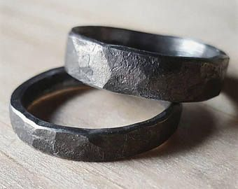 Items Similar To Denture Ring Separated Upper And Lower On Etsy In 2020 Unique Mens Rings Iron Jewelry Rings For Men