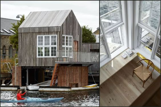 Hotel Made of Recycled Materials Floats in Copenhagen Harbor