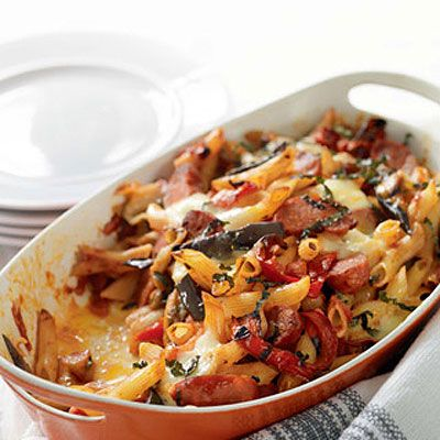 chorizo, vegetable and pasta bake // i love this recipe from waitrose