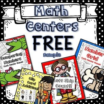 These Math Centers will help your students refresh their memory of important math skills like Skip Counting, Addition, Comparing Numbers, and Number Grids!