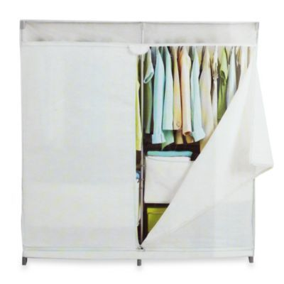 Real Simple 174 60 Inch Wide Canvas Closet Bedbathandbeyond