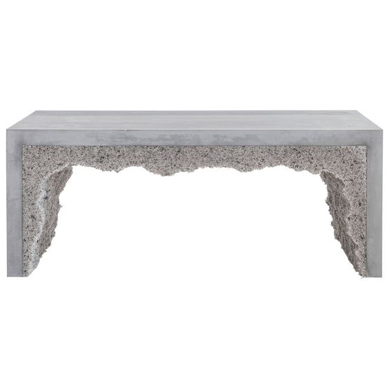 Grey Cement and Grey Rock Salt Bench 1