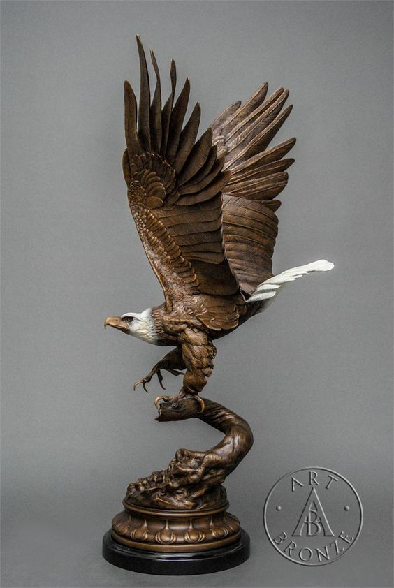 """Bald Eagle"", large, by Jules Moigniez"