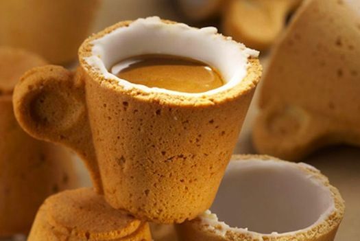 Lavazza and designer Enrique Luis Sardi have created a coffee cup made of pastry lined with a sugar layer acts as a sweetener for your drink.