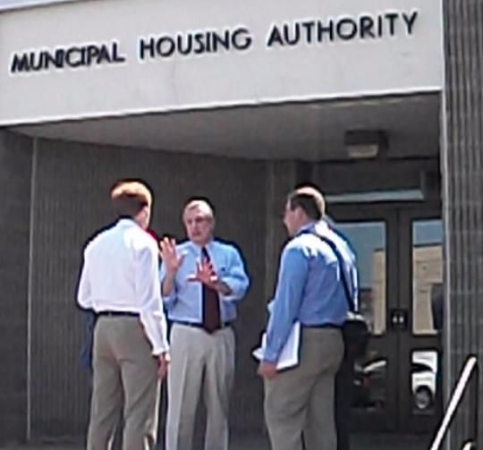 Democratic Candidate Confronted By Head Of Housing Authority