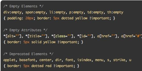CSS Diagnostics Stylesheet