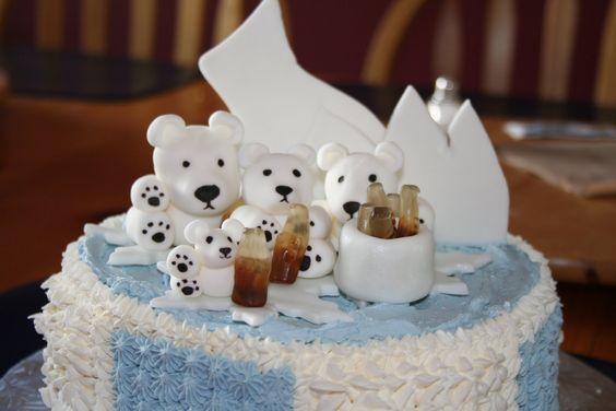 Cake w/ coca-cola and polar bears
