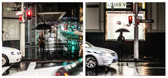 """Australia, George Street, Sydney after midnight, August 17, 2014""""Cause after rainy days the sun will shine"""" Millencolin"""