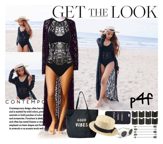 """Passion 4Fashion: Good Beach Vibes"" by shygurl1 ❤ liked on Polyvore featuring Venus and 8 Other Reasons"