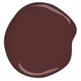 A fluid oxblood red...beguiling in its depth of tint. My favored shade of RED. bewitched CSP-450 Benjamin Moore