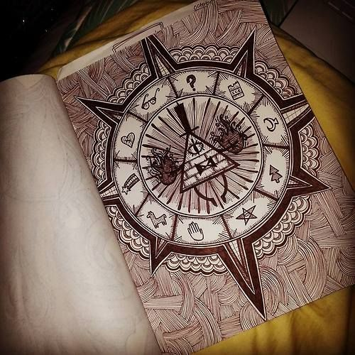 A seriously amazing Bill Cipher wheel