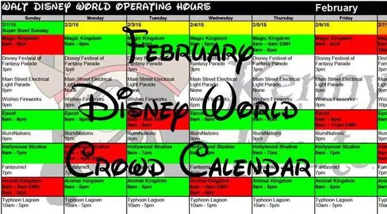 February 2017 Disney World Crowd Calendar, Park Hours, Entertainment with Fastpass and Dining Booking Dates KennythePirate