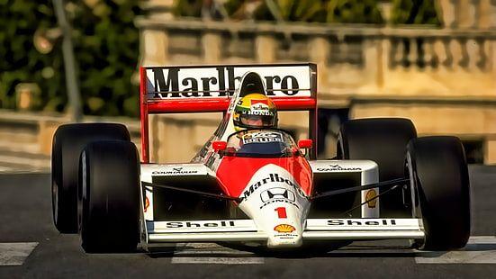 Red And White Marlboro Go Kart Ayrton Senna Formula 1 Mclaren F1 Hd Wallpaper Ayrton Senna Go Kart Mclaren F1 Ayrton senna hd wallpaper
