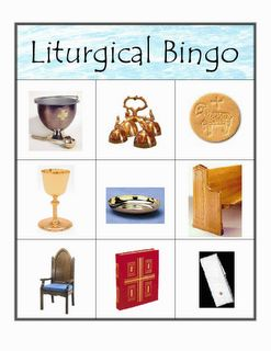 Games to teach kids the liturgical objects used in mass. (Looks like there are several I still need to learn, too!)