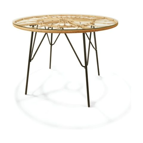 Woven Dining Table Kmart In 2020 Dining Table Table Table And Chairs