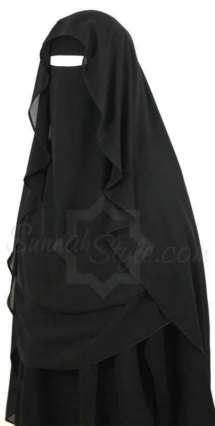 Extra Long Butterfly Niqab (Black) by Sunnah Style #SunnahStyle # ...