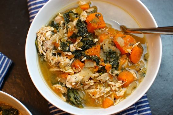 Kale and Sweet Potato Chicken Soup | The Defined Dish
