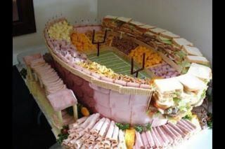 Football Stadium of Meat and Cheese! Wow!