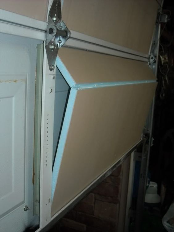 Garage door opener garage door insulation and diy garage - Polystyrene insulation step by step ...