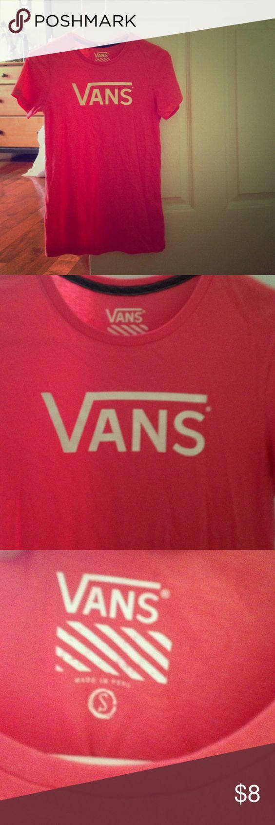 Vans t shirt Vans t shirt.  worn twice, great condition, size small Vans Tops Tees - Short Sleeve