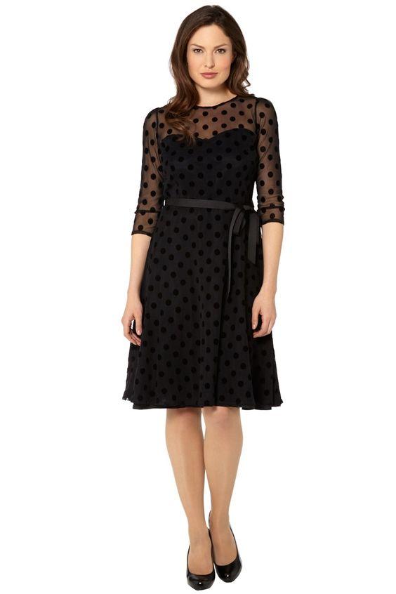 8d6ead3f04 Roman Originals - Black Polka Dot Skater Dress